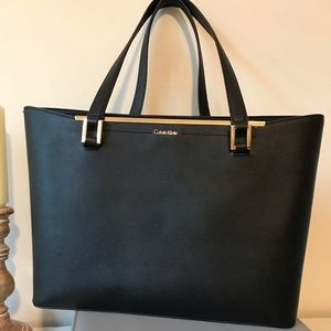 Calvin Klein tote with gold details